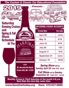 Harford Winery Cruise Schedule